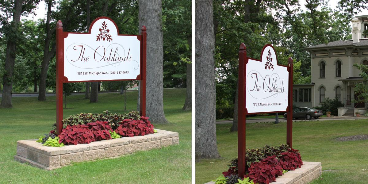 Oaklands Lawn Sign