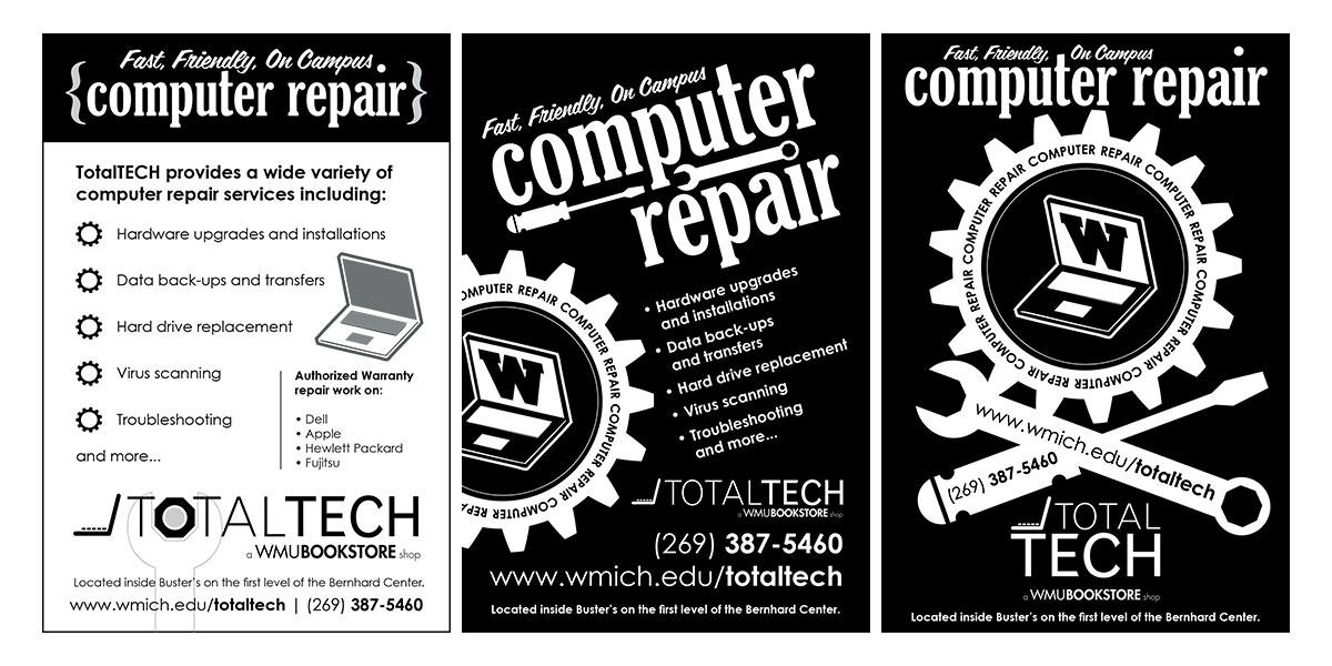 TotalTECH Repair Ad for Table Tents